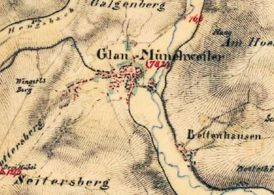Karte von Glan-Münchweiler und Bettenhausen aus Bayrischer Herrschaft