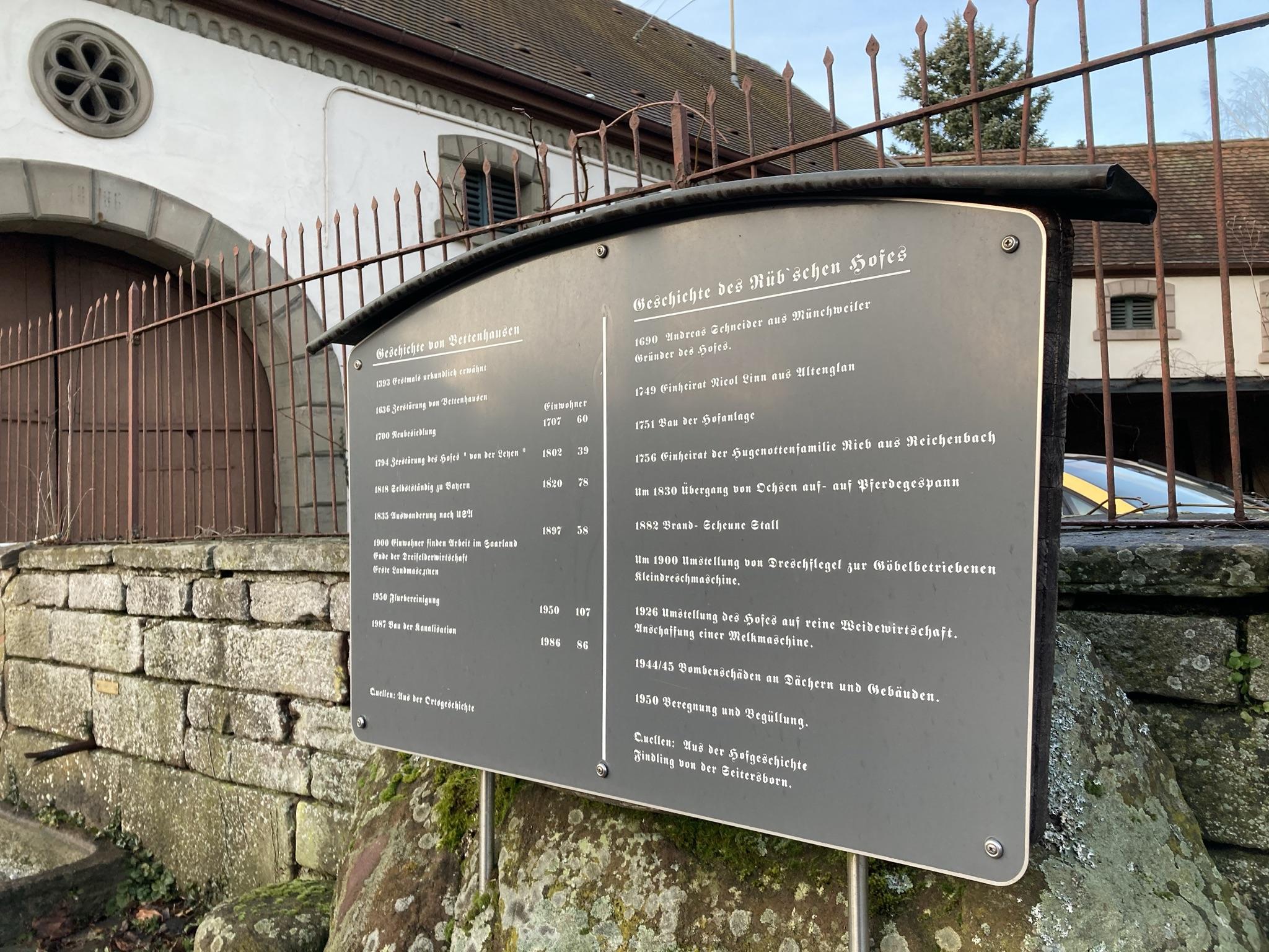 Ortstafel Bettenhausen Hintergrund Scheune Rüb